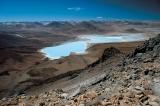 laguna Verde a laguna Blanca pod Licancaburem; SW Bolivia
