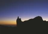 Západ slunce na svazích Aconcaguy